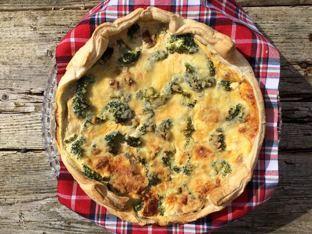 Quiche met pittige broccoli